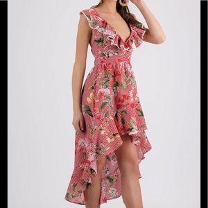 Dresses & Skirts - Flowery  Ruffled Striped Dress❣️